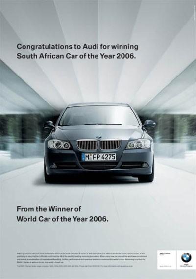 Reklamna vojna med BMW-jem, Audijem in Subarujem se je začela z: