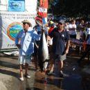 tu in tam je bila ujeta kakšna manjša yellow fin tuna, mislim, da je Vili ujel na treningu