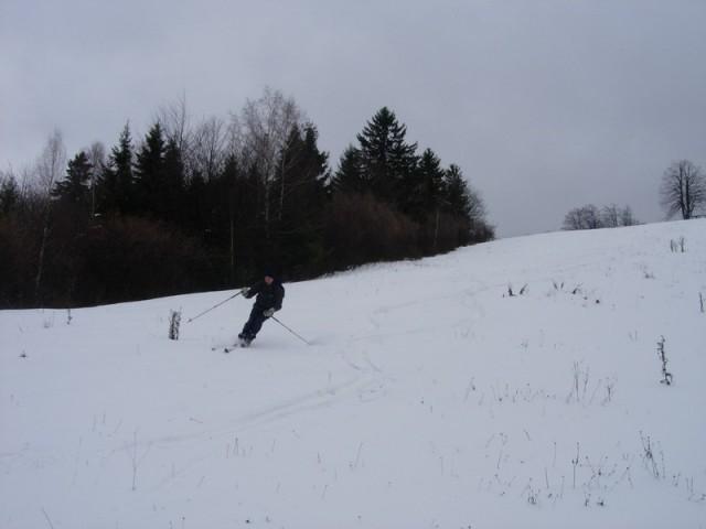Smuka na 20cm ojuženega snega je bila po polletnem odmoru - naravnost odlična.