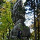 Slikovito oblikovane skalne gmote..