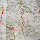 Zemljevid opravljene ture.
