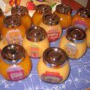 četica mini domačih marmelad, izdelano za darila, kozarčki obdelani s servietno tehniko