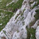 3 metre jeklenice na poti proti Jezerskemu sedlu