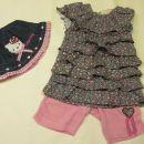 little girl star tunika in hlačke 80 in klobuček hello kitty za eno leto