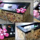 Lesena škatla za shranjevanje (darilo za obhajilo) 2014