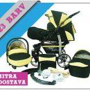 NOV voziček s premičnimi kolesi prodamo 360 €