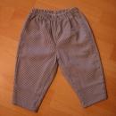 mornarske, belo modre tanke hlače 92...3€