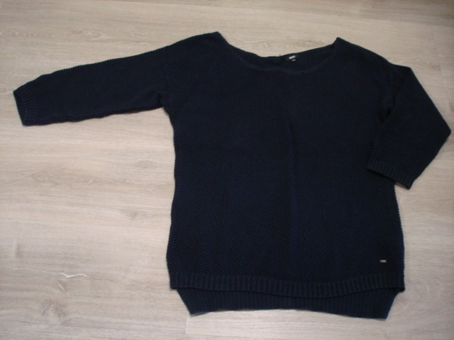 Marx pleten pulover, zadaj zadrga, XL....5€