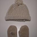 pletena kapa in rokavice, 3-5 let skupaj 3€