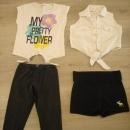 Abercrombie kratke hlače, Benetton pajkice, 2x majica, komplet 122-128....8€