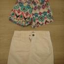 Old navy pisane hlače, Osh kosh belo krilo,.... 122-128, kos 4€