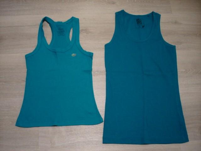 Majici brez rokavov, S, leva Lacoste 4€, desna daljša 3€