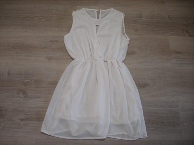 Obleka S, lahek material, podložena...6€