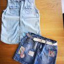 Zara jeans krilo 140, HM srajčka 140