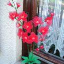 Rože iz najlon nogavic