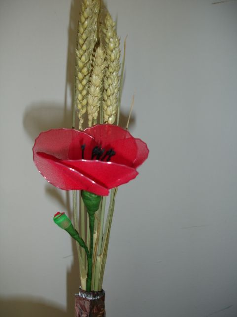 Rože iz najlon nogavic - foto