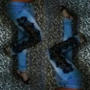 Jeans s črno čipko