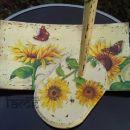 darila - stojalo za papirnate brisače in krožnik *Sončnice*
