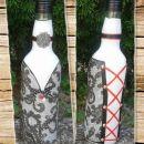 darilo - steklenica *črno-belo*