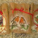 darila - komplet treh darilnih vrečk iz jute