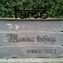 darila - vintage tabla z napisom po izbiri