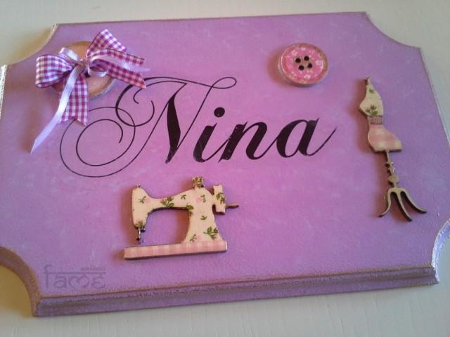Darila - napis za sobo *nina*