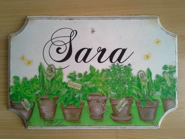 Darila - napis za sobo *sara*