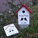 darila - komplet lovebirds (ptičja hišica in poročna čestitka)