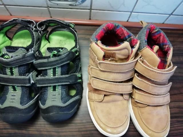 Komplet sandali 33+čevlji Next 34 - foto