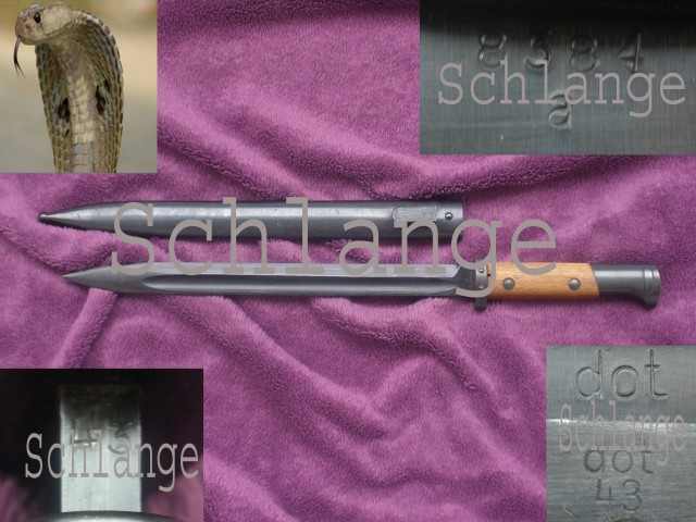 German S24(t) DOT43 a (Brunn) K98 bayonet