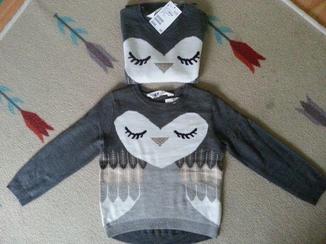 HM puloverček sovica 98 nov