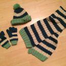 Komplet kapa, šal in rokavičke (za 3-4 leta, kapa je majo manjša) / 8 €