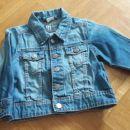 H&M jeans jaknica, številka 80 (9-12M; nosljiva dlje)