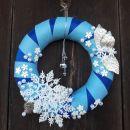 23-modro bel s snežinkami