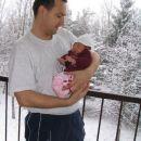 5. marec 2006; sneži, slika na balkonu March 5th 2006, snowing, on apartment balcony