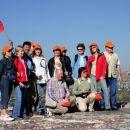 Na vrhu sončeve piramide smo razvili slovensko zastavo in zapeli zdravljico.
