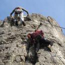 Jožica U. in neznani plezalec v stolpu ( smer z oceno 4c )...