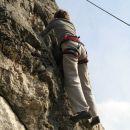 Jožica U. pleza varovana od zgoraj ( top rope - ocena 4c )