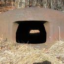 železna kupola na vrhu podzemeljskega kompleksa je bila namenjena opazovanju okoliških pob