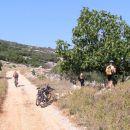 Cres- makadamska cesta, ki iz marine v Cresu vodi nad zalivom Valun proti vasi Lubenice