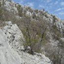 pogled na drugi greben, po katerem sem nadaljeval nato, ko sem prečil vmesno melišče...