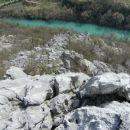 pogled z vrha prvega grebena proti Soči...
