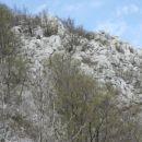 zaključek drugega grebena, po katerem sem izplezal na nekakšno sedelce; na njem sem ujel s