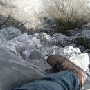 slika nam nazorno pokaže, da je plezanje po drugem grebenu mestoma izpostavljeno, a je ska