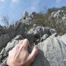 in tako naprej proti vrhu drugega grebena...