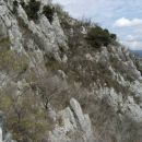 zaključna strmina tretjega grebena...