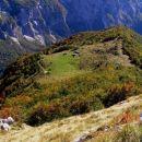 planina Lašca ( 1288 m nm ) z uravnave pod Povcem ( Palcem ) - prek nje smo se povzpeli na