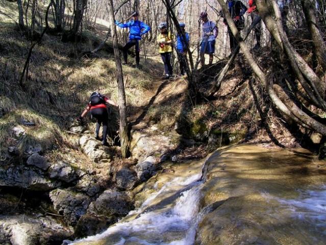 živahen potok, ki sredi gozda izgine v podzemlje ...to je kras !