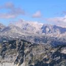 Del razgleda z vrha Velikega Lemeža, najvišji vrh na sliki - Triglav ( 2864 m / nm )