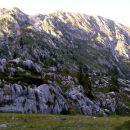 Veliki Lemež s planine Na Polju. Naš pristop je potekal po pobočjih z desne strani in nato